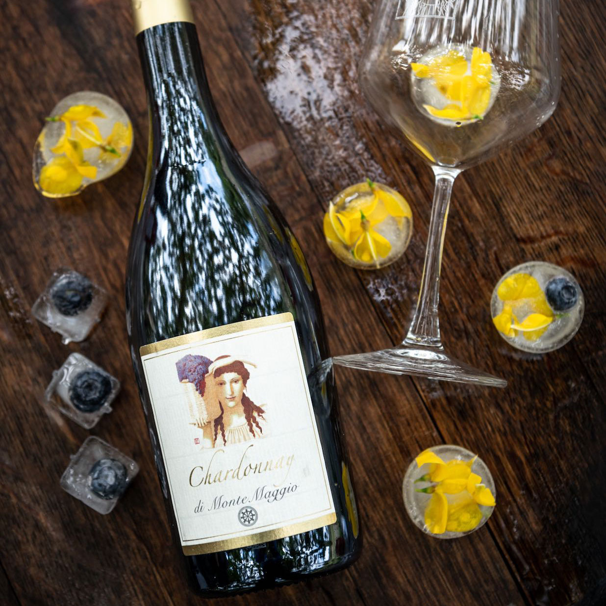 This Chardonnay is bottled with transparent glass corks to prevent the risk of deterioration