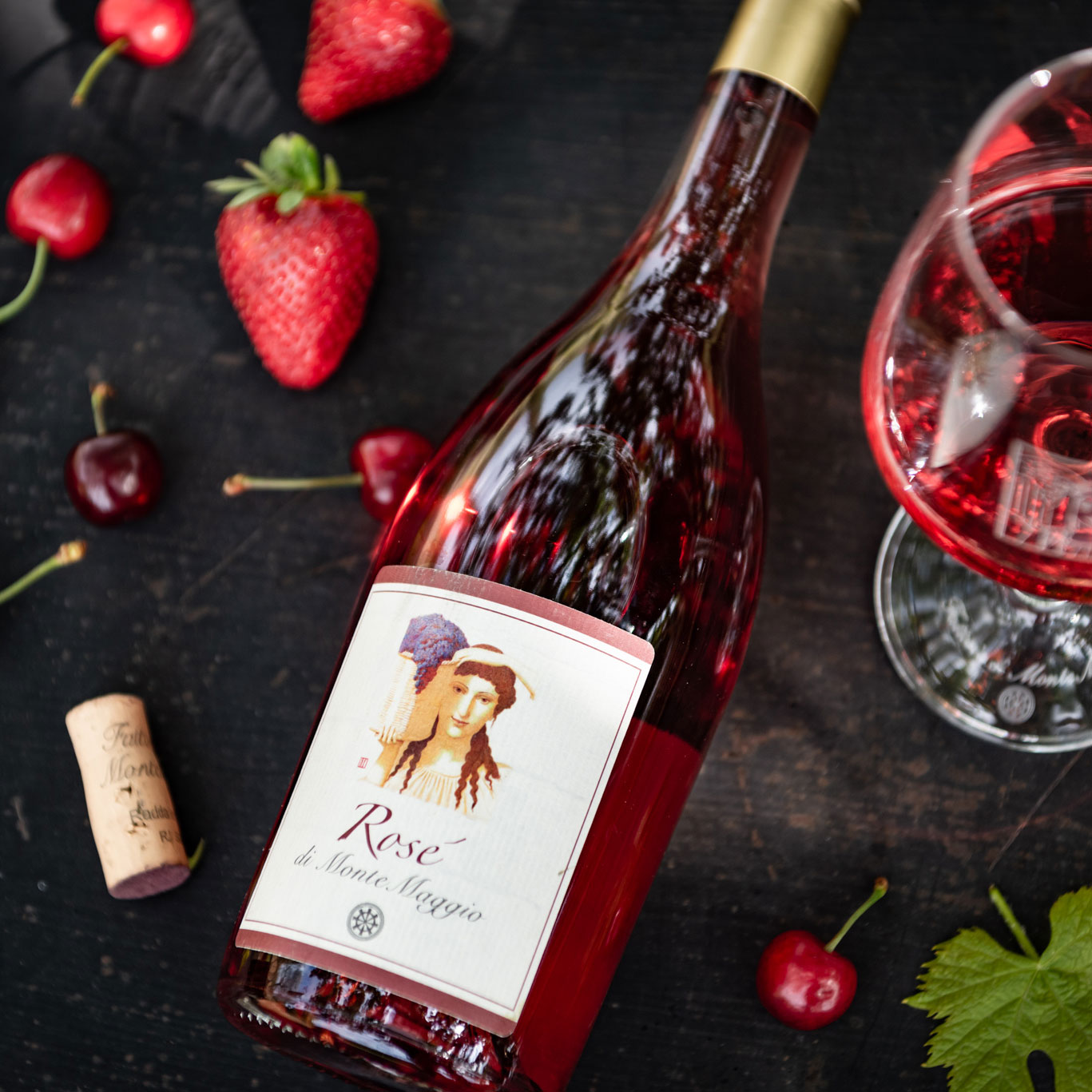 Rosé di Montemaggio has a fruity bouquet which is perfect on a summer day