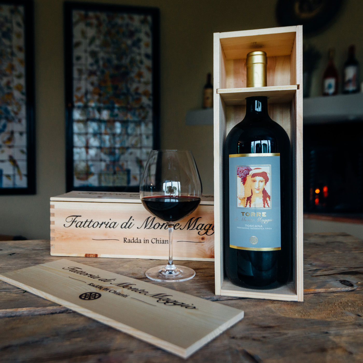 Torre di Montemaggio boxed and ready to deliver to your home from Italy