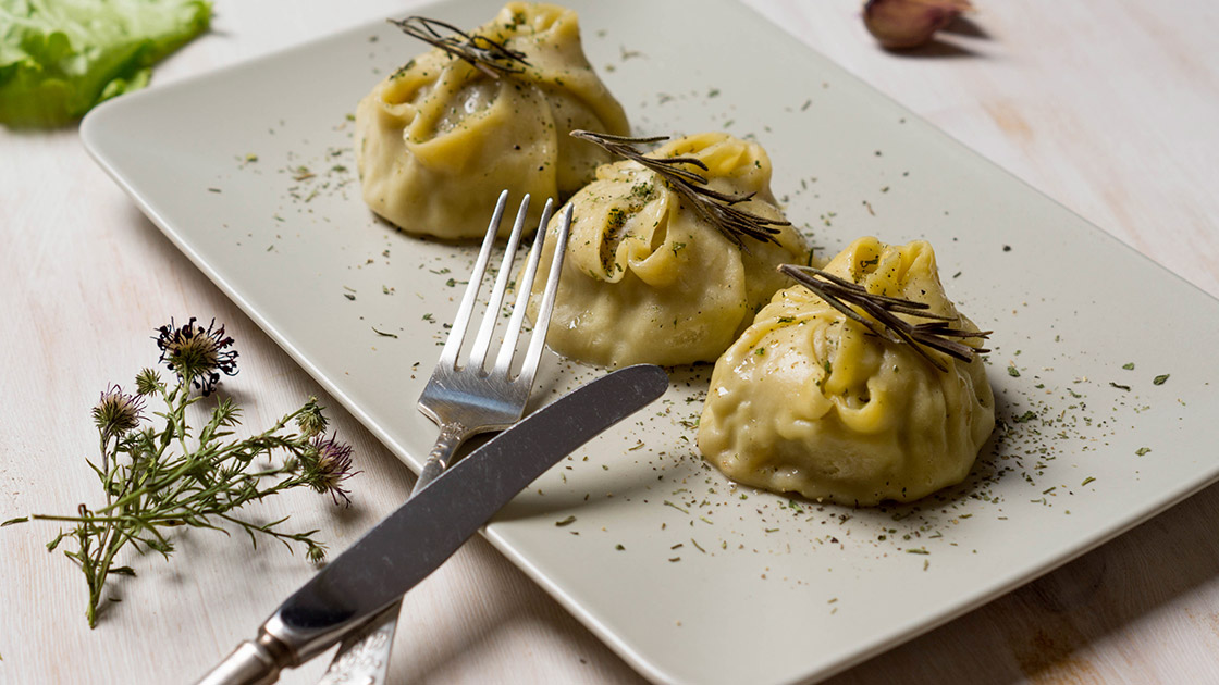 Manti - Russian dumplings