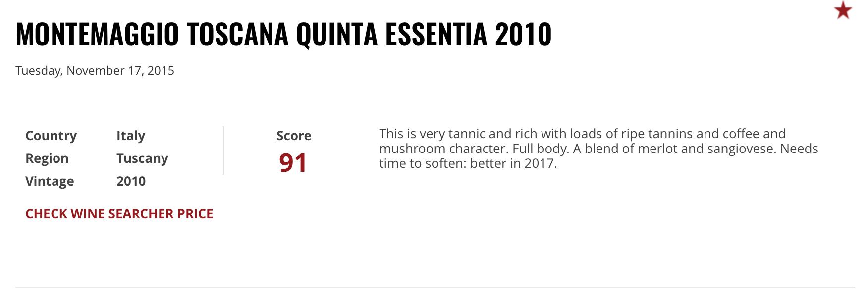Quinta Essentia 2010