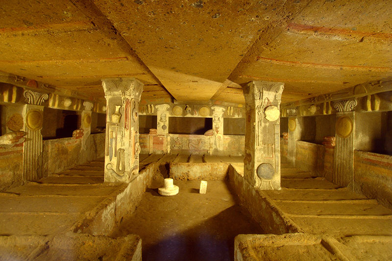 Etruscan Necropolis in Tuscany