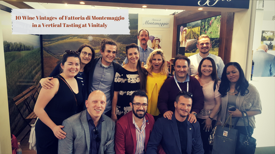 10 Vintages of Fattoria di Montemaggio in a Vertical Wine Tasting at Vinitaly 2017
