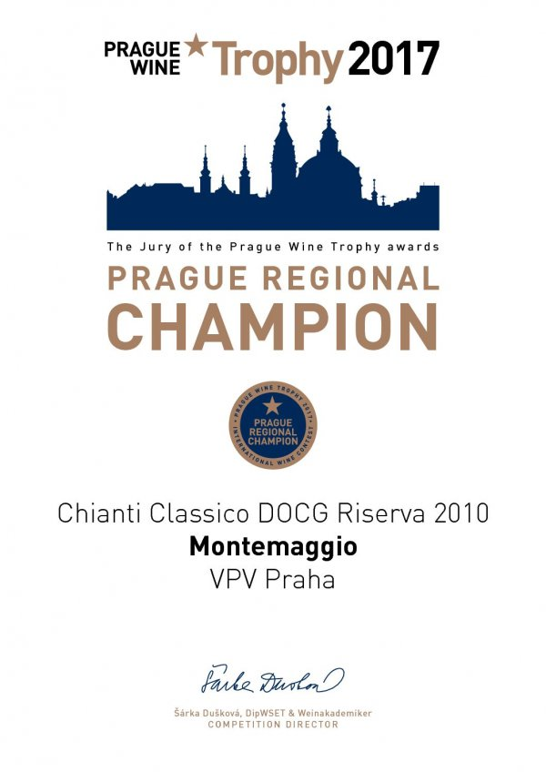Prague Regional Champion - International Wine Contest